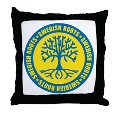 Swedish Roots Throw Pillow