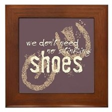 Stinking Shoes Framed Tile