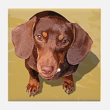 Pop Weenie Dog Tile Coaster