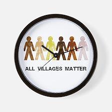 Riyah-Li Designs All Villages Matter Wall Clock