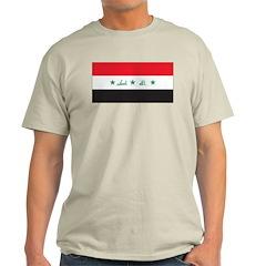 Iraq Flag Ash Grey T-Shirt
