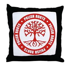 Polish Roots Throw Pillow