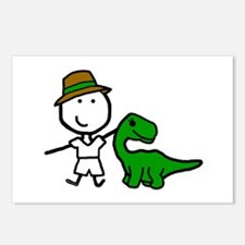 Boy & Dinosaur Postcards (Package of 8)