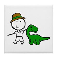 Boy & Dinosaur Tile Coaster