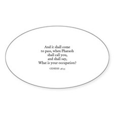 GENESIS 46:33 Oval Decal