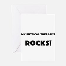 MY Physical Therapist ROCKS! Greeting Cards (Pk of