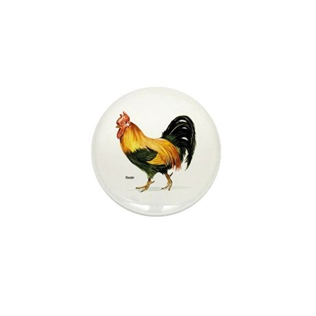 Rooster Chicken Mini Button