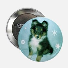 """Tri-Color Puppy 2.25"""" Button"""