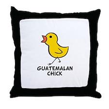 Guatemalan Chick Throw Pillow