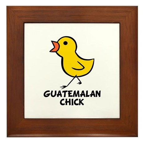 Guatemalan Chick Framed Tile