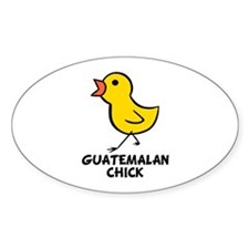 Guatemalan Chick Oval Decal