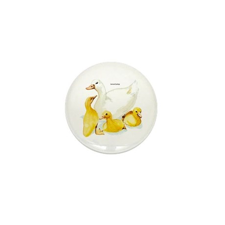 Duck and Ducklings Mini Button