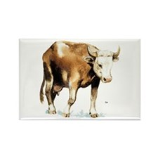 Cow and Cattle Rectangle Magnet