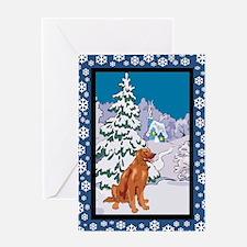 Winter Wonderland Irish Setter Greeting Card