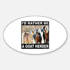 GOAT HERDER Oval Decal
