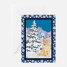 Winter Wonderland Husky Greeting Card