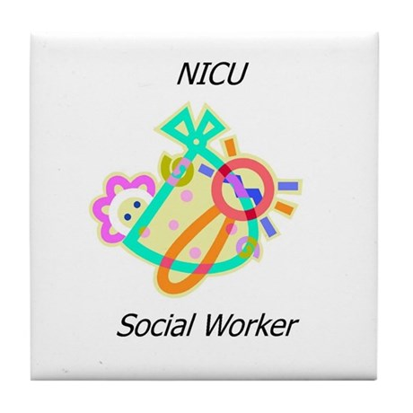 NICU Social Worker Tile Coaster