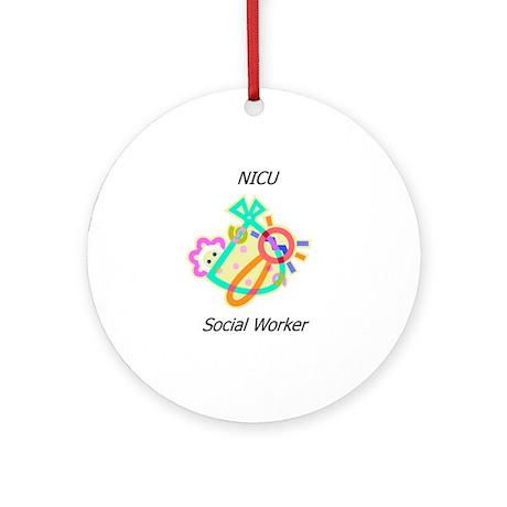 NICU Social Worker Ornament (Round)