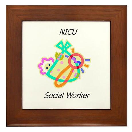 NICU Social Worker Framed Tile