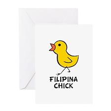 Filipina Chick Greeting Card
