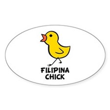 Filipina Chick Oval Decal