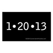 1-20-13 anti Obama bumper sticker 5x3""