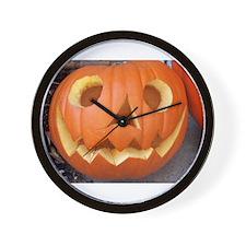 Happy Pumpkin Wall Clock