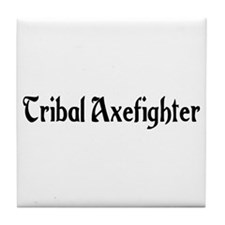 Tribal Axefighter Tile Coaster