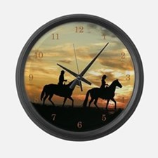 Unique Cowboy Large Wall Clock