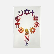 Colorful White Unity Magnet Magnets