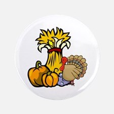 "Thanksgiving Harvest 3.5"" Button (100 pack)"