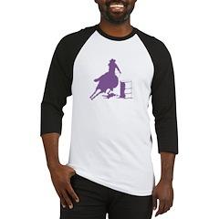 Barrel racing in purple Baseball Jersey