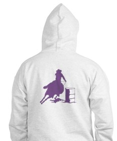Barrel racing in purple Hoodie