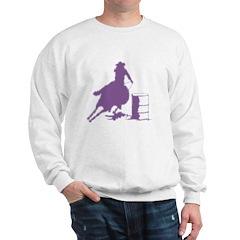 Barrel racing in purple Sweatshirt