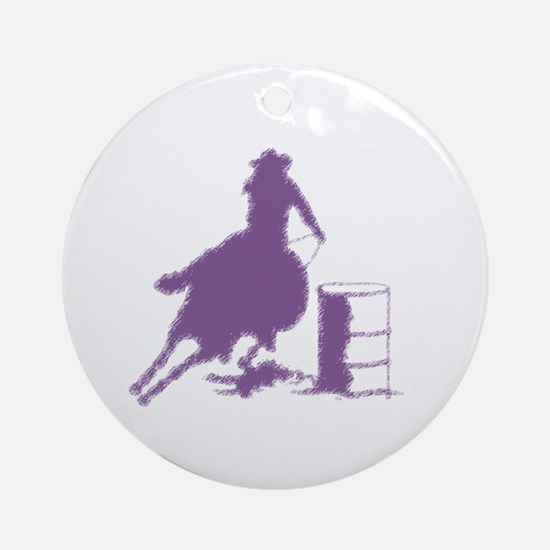 Barrel racing in purple Ornament (Round)