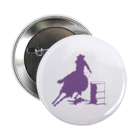 "Barrel racing in purple 2.25"" Button (100 pack)"