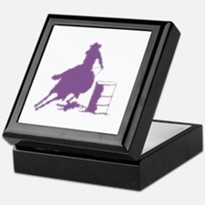 Barrel racing in purple Keepsake Box