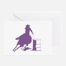Barrel racing in purple Greeting Cards (Pk of 20)