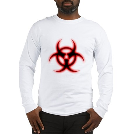 Glowing biohazard Long Sleeve T-Shirt
