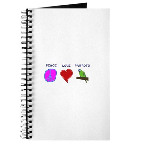 Peace Love Parrots Journal
