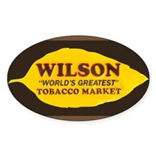 Wilson Tobacco Oval Decal