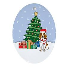 Welsh Springer Christmas Oval Ornament