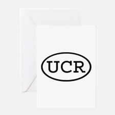 UCR Oval Greeting Card