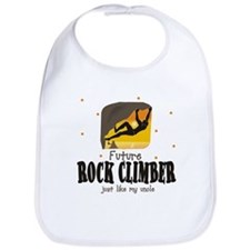 Future Rock Climber like Uncle Baby Infant Bib