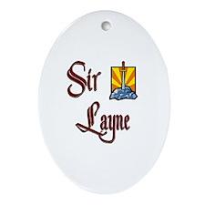 Sir Layne Oval Ornament