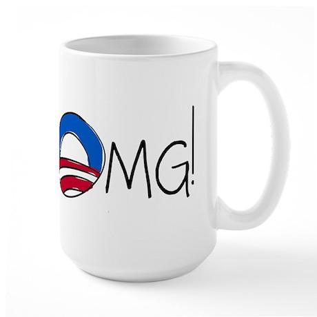 OMG! A Funny Anti-Obama Large Mug