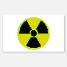 Radioactive Rectangle Sticker 10 pk)