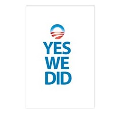 """Yes We Did"" Postcards (Package of 8)"