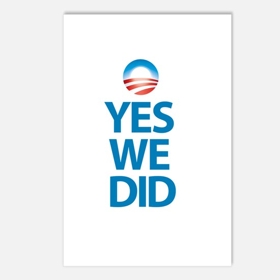 """""""Yes We Did"""" Postcards (Package of 8)"""