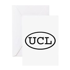 UCL Oval Greeting Card